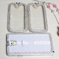 New Luxury Bling Rhinestone For Nokia Lumia 520 525 620 625 mobile phone crystal case cover 1pcs free shipping