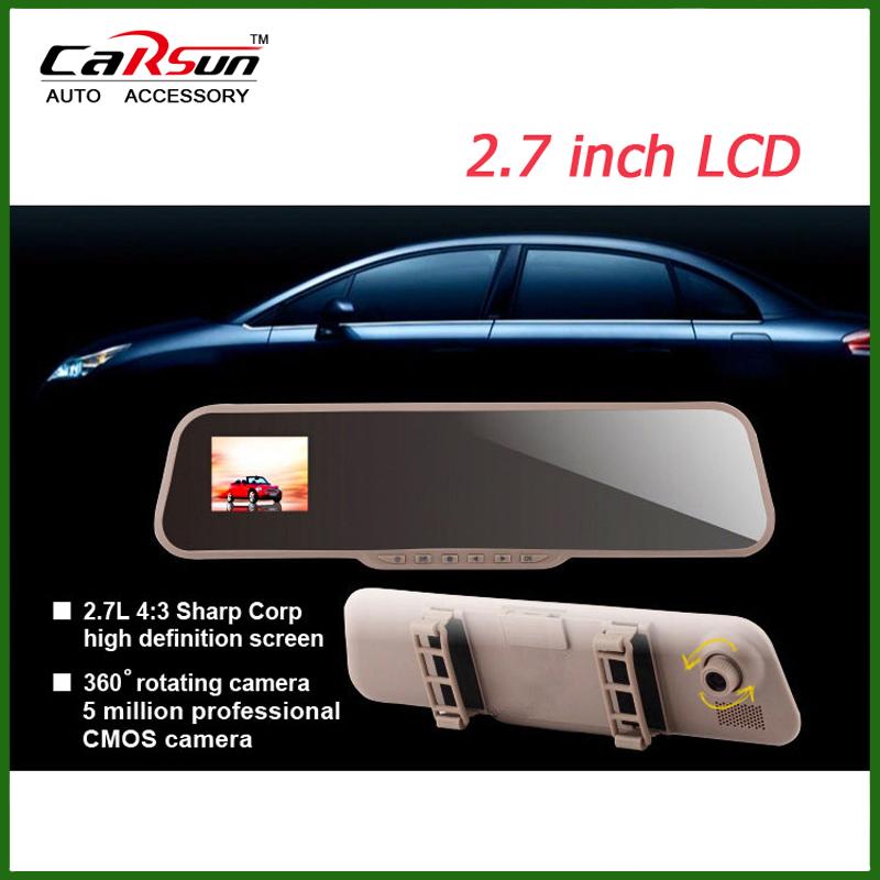 Car DVR Camera FHD1080P H.264 Rearview Mirror Camera DVR G-sensor Motion Detection Original Novatek CPU Car Camera Recorder dvr(China (Mainland))