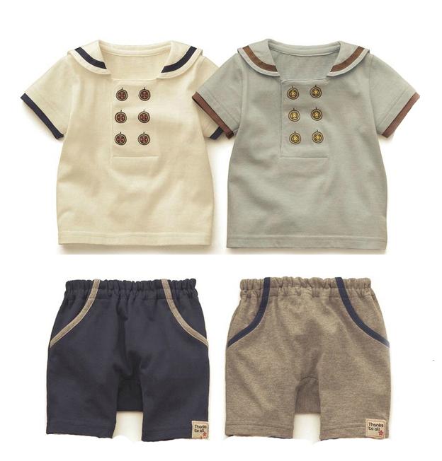 2014 summer fashion soft cotton children boys clothings 2pcs Sets baby suit(China (Mainland))