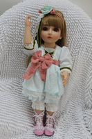 Кукла BJD SD 18inches Princess Dress Doll and long hair handmade skirt and in silicon vinyl