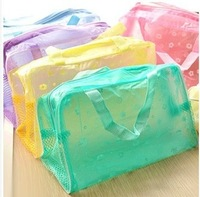 High quality product hearts . waterproof storage bag bath bag
