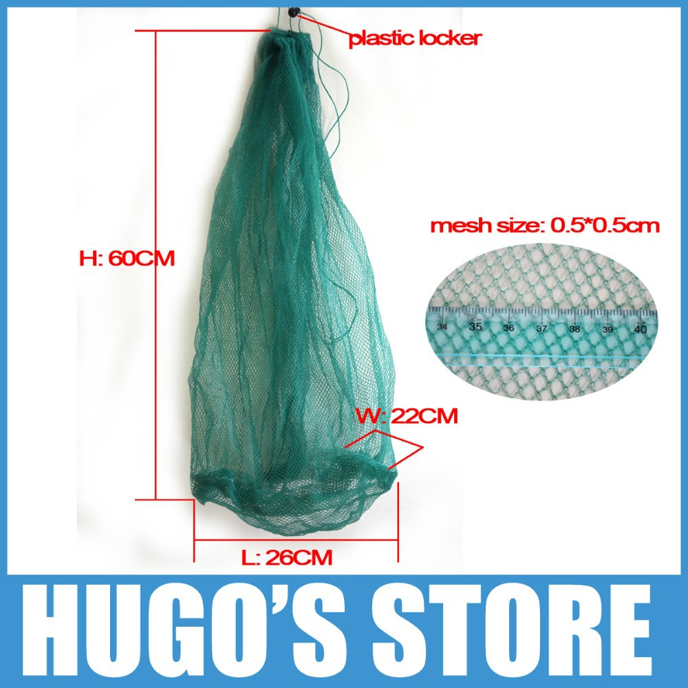 2 Pieces/lot Light Weight Compact Size Monofilament Small Mesh Carp Crab Crawfish Mullet Panfish Keep Net Trap Basket Container(China (Mainland))
