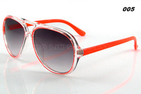 New 2014 Big Frame Designer Brand Commemorative Clear Sunglasses Men/Women Oculos Classic GOGGLES Mirror Lens UV400 JL14936