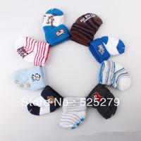6pair /lot  free shipping New Cute Baby Socks/Baby boy Cartoon Floor Socks 1-3 Years baby socks