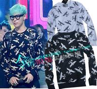 2014 boy  clothing Bi bang gd boylondon hot-selling sweatshirt outerwear long-sleeve lovers  novelty dresses