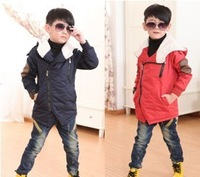 RW0012 Free shipping new kids winter hooded coat top quality thick wadded children jacket boys clothing fit age 3-8 yrs retail