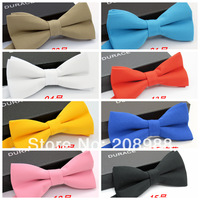 New arrival 2014 high quality fashion bow tie mens bow tie Adjustable Solid Color Neck Bowtie Free shipping 30pcs/lot #1643
