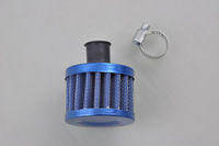 12mm Blue MINI OIL AIR INTAKE CRANKCASE VENT COVER BREATHER FILTER [QPL144]