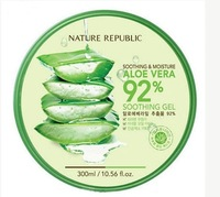 Face Care Sunscreen GEL ALOE VERA 92% SOOTHING&MOISTURE 300g After Sun repair Aloe Vera gel whitening anti-aging