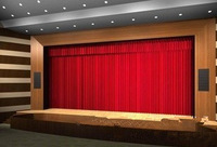 One set Free shipping Ma velvet  real velvet, velvet,  material red stage curtain factory wholesale and retail 242