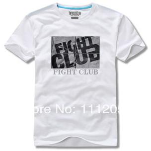 Fight Club T-shirt Men's Short-sleeve Loose T-shirt 100% Cotton Good Quality Custom T shirt Free Shipping 2014(China (Mainland))