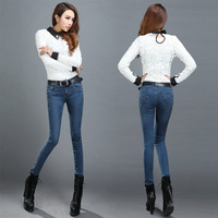 new  woman  jeans pencil pants free agent a shipping wholesale 306 feet Simple style pants  ripped jeans