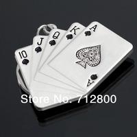 50pcs/lot Fashion Male Personality Poker Keychain Key Ring Keyfob Small Gift Male LC-1015