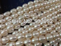 AA wholesale 5 strands 6-7mm rice cultured  freshwater pearl strands