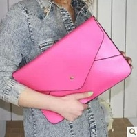 The new contracted one shoulder portable document envelope bag color female bag