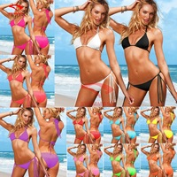 New Candy color! 2014 Vintage Bikini Women Fashion Sexy Swimsuit Ladies' Swimwear Beachwear Leopard Grain Swimwear Bikini Set