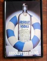 ABSOLUT VODKA ! Retro Metal Art Poster Vintage Antique Metal Tin Signs Decor Home Club Bar Cafe wall painting F-95 20x30CM