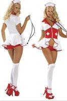 Spring 2014 Cosplay Sexy Nurse Costume/ Halloween Nurse Carnival Adult Costume / Girl Kimono Dress Sexy Lingerie Hot Sleepwear