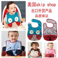 Hot Sale,1Lot=10pcs!New Arrival Waterproof Fabric Cartoon Baby Pinny Zoo Animal Pattern Print Baby Bibs Burp Cloths,Mixed Sales