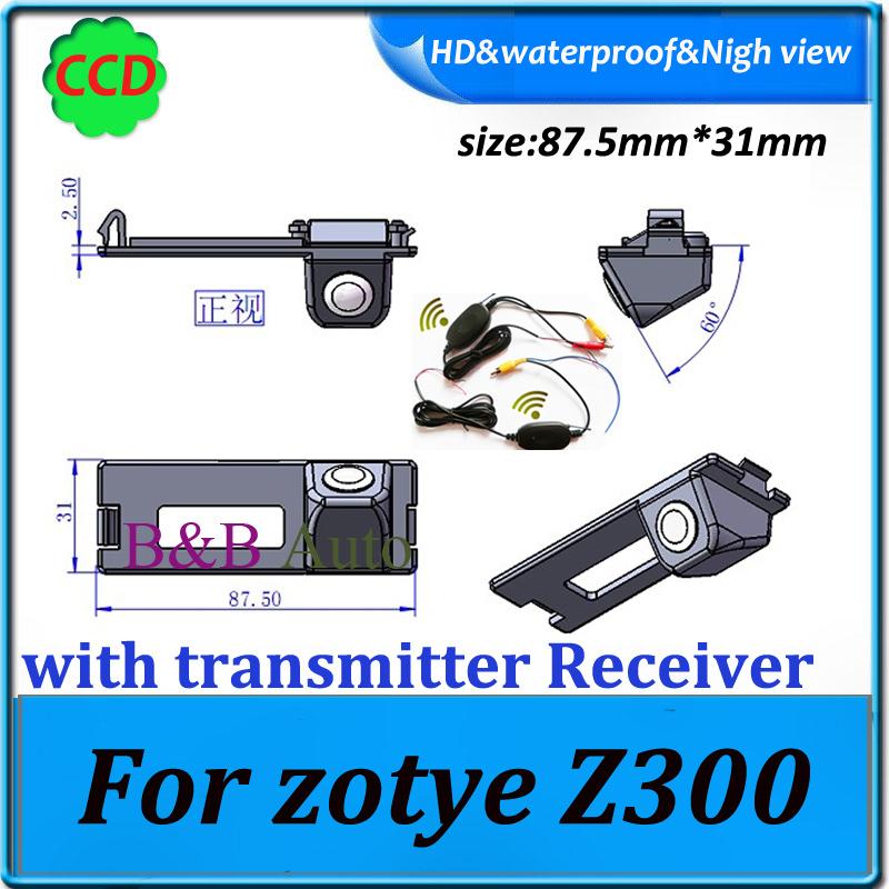 parking camera for For zotye Z300 backup rear camera + 2.4Ghz Wireless Signal Receiver/Transmitter car rear camera(China (Mainland))