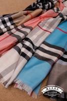 Silk plaid male women's lovers design scarf cape
