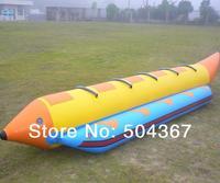 Inflatable banana boat 5 persons with air pump , water games, water boat,  banana boat