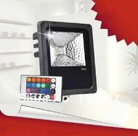 1PC 10w/20w/30w/50w/100w/120w RGB LED Outdoor Flood light Waterproof ip65 RGB Changeable Floodlight Wall Building Lamp