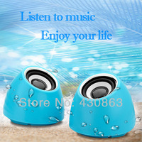 Free Shipping USB 2.0 Portable Mini Speaker Mini Amplifier for iPhone iPad Laptop Personal PC Mp3 Mp4 PSP Notebook