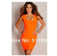 2014 Autumn New Style Fashion Bandage Dress Sexy Bodycon Sleeveless Dress Women Club Dresses Plus Size Women Clothing