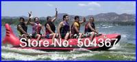 Shark banana boat, water banana boat 5 persons with air pump, PVC Tarpaulin boat