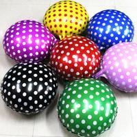 18inch aluminum balloon foil round polka dot balloon free shipping