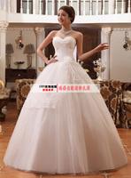 2014 new arrival sweet princess puff wedding dress