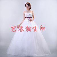 2014 hot-selling sweet princess lace flower wedding dress