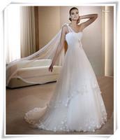 2014 new arrival fashion royal luxury rhinestone acrylic wedding dress