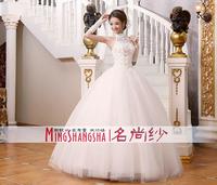 2014 white halter-neck quality beautiful wedding noble wedding dress