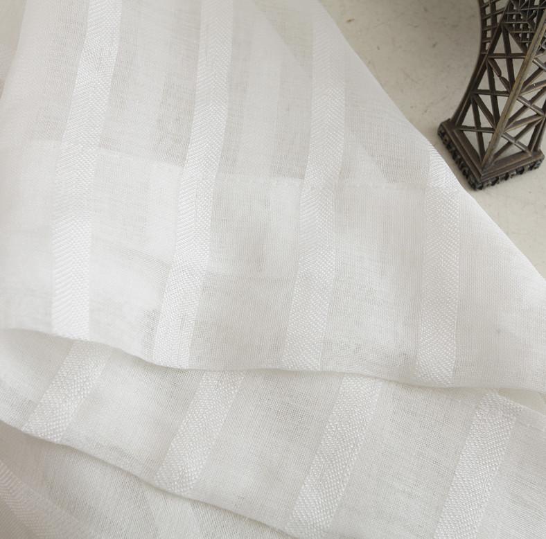 Cor sólida todos -match varanda fio telas faixa branca cortina(China (Mainland))
