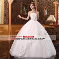 2014 autumn bride tube top bandage wedding dress