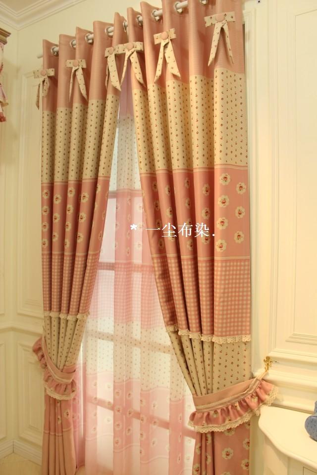 Janela breve cortina menina cortina rústico verdadeiro dodechedron piaochuang criança triagem tarja customize(China (Mainland))
