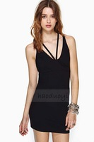 Multi-cross back straps high elastic halter dress sleeveless dress for wholesale and freeshipping