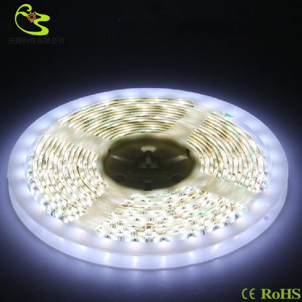 Free shipping(5m/lot) 300led 3528 smd led strip light 24w/5m 12v AC/DC 2160lm high brightness 60 led white strip light(China (Mainland))