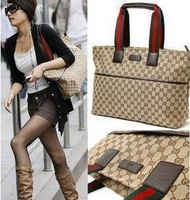 Plaid canvas bag hand the bill of lading shoulder bag