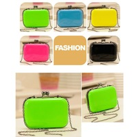 Fashion Women Lady Messenger Bag Shoulder Day Clutch Evening Bag Chain Purse Candy Color Mini Box Crossbody Bag 5 colors