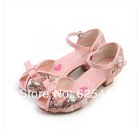 New 2014 Children/Kids Sandals for Girls Princess Girls Sandals High-heeled Latin Dance Summer Shoes for Girls Free ShippingA129