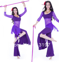 4set free shipping to you country mix color very popular in the world ,belly dance wear 3pcs