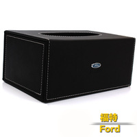 Car tissue box vehienlar pumping paper box leather quality FORD maverick focus