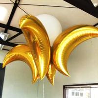 Hot sale ! aluminum foil balloon helium balloon, big moon balloon free shipping