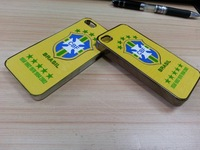 Fast shipping 1pcs 2014 World cup soccer football 5 star CBF Brazil case for iphone 5s 5  perfect protect brasil case
