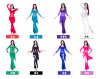 1set 2014 new model free shipping to you country mix color very popular in the world ,belly dance wear 3pcs