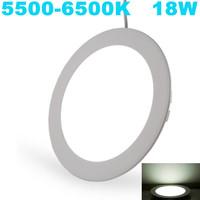 12pcs/lot LED ceiling light Indoor Ultra-thin Aluminum Led Panel lighting 18w, 5500-6500K Cold White,Free Shipping!