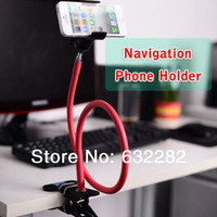 Colorful 360 Universal Mobile Phone Holder for iPhone Samsung Galaxy S2 S3 iPad Black Pink White Blue Metal Chrome-plated